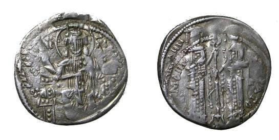 Ancient Coins - Andronicus II and Michael IX Silver Basilikon