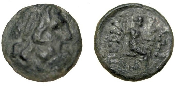 Ancient Coins - Asia Minor Mysia Pergamon AE18 late 2nd-1st Cent BC