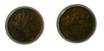 "World Coins - Sweden 1 Ore 1916 Short ""6""  KM#777.2"