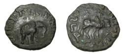 Ancient Coins - Indo-Skythian Azes II Ca 35 BC- 5 AD  AE Penta Chalkon Taxila M-2299 Hazara