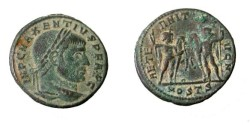 Ancient Coins - Maxentius AE Follis 306-312AD