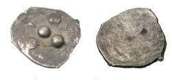 Ancient Coins - INDIA LATE GUPTA MALWA CIRCA 500 AD FRACTIONAL AR ½ DRACHM COIN