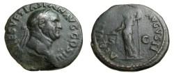 Ancient Coins - Vespasian AE As 69-79 AD 76 AD AQUITAS AVGVST RIC 580