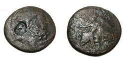 Ancient Coins - Seleucia & Pieria Antiochia AE24 1st cent BC c/m head S-5855