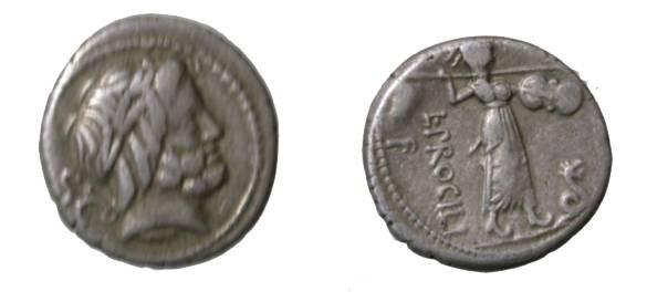 Ancient Coins - PROCILIA L. Procilius c. 80 BC Denarius