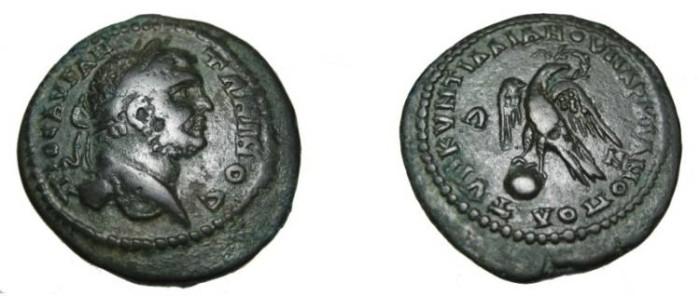 Ancient Coins - Geta 209-212 AD Marcianopolis Moesia Inferior AE27 Eagle on Globe