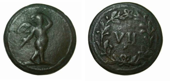 Ancient Coins - Rome Anonymous Ca 1st Century AD AE20 Spintria