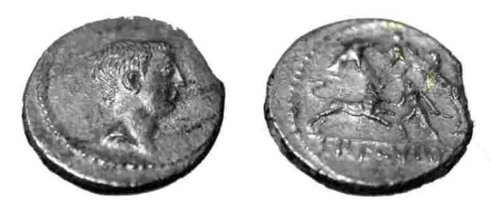 Ancient Coins - L. Liveneius Regulus, 42 B.C.  AR Denarius