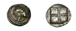 Ancient Coins - Macedon Akanthos AR Tetriobol 424-380 BC S-1369