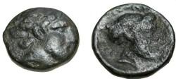 Ancient Coins - Thessaly Phalanna AE 18 Ca 350 BC S-2180