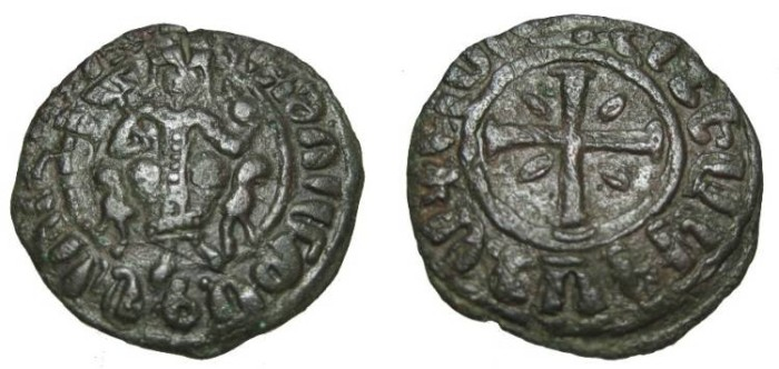 World Coins - Armenia Hetoun I 1226-1270 AD AE tank Nercessian 354