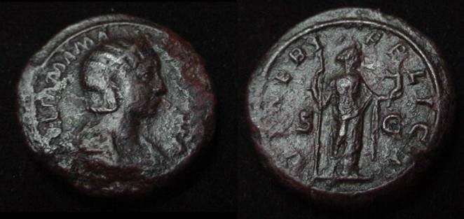 Ancient Coins - Julia Mamaea AE As Mother of Severus Alexander