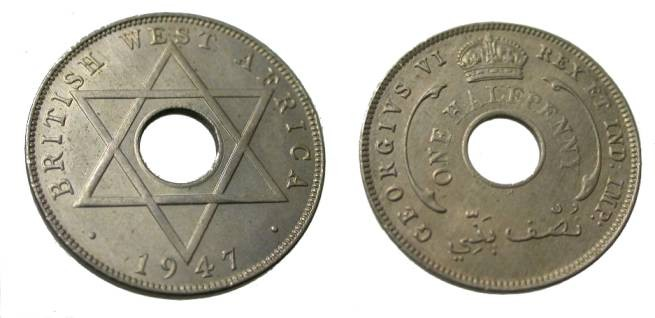 World Coins - 1947 Nigeria George VI One Half Penny