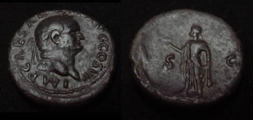 Ancient Coins - Vespasian AE As. 76 AD
