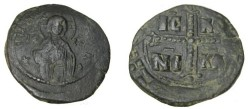 Ancient Coins - Anonymous Follie Attributed to Michael IV 1034-1041 AD S-1823 Class G