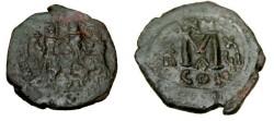 Ancient Coins - Heraclius 610-641AD AE Follis Constantinople S-808