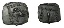 Ancient Coins - Bactria Menander Ca 160-145 BC AE Chalkous S# 7616