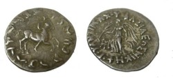 Ancient Coins - Indo Greek Kings of Bactria Antimachos Ca 171-160BC AR Drachm Taxila Mitch #1674