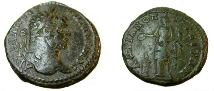 Ancient Coins - Caracalla AE28 Hadriamopolis Homonia