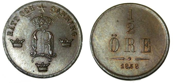 World Coins - 1859/7 1/2 Ore  KM 686