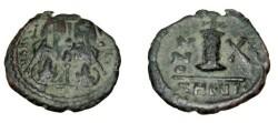Ancient Coins - Justin II 565-578AD Constantinople AE Pentanummium