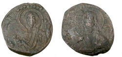 Ancient Coins - Anonymous Follie Attributed to Ramanus IV 1068-1071 AD S Class G # 1867