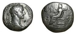 Ancient Coins - Commodus 177-192 AD AE Sestertius IOVI VICTORI IMP III COS II PP RIC 294