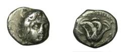 Ancient Coins - Charian Islands S Rhodes 304-167BC AR Hemidrachm S- 5054