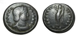 Ancient Coins - Galeria Valeria AE Follis Wife of ValerianI HTB in exer