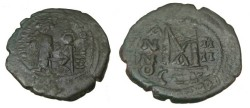 Ancient Coins - Heraclius 610-641AD AE Follis Constantinople S-805