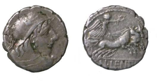 Ancient Coins - Roman Republic Gens CORNELIA Denar CNAEUS CORNELIUS LENTULLUS. Mars. Victory in biga