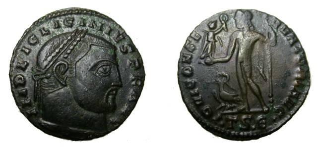 Ancient Coins - Lincinus I 307-324 AD Ae Follis