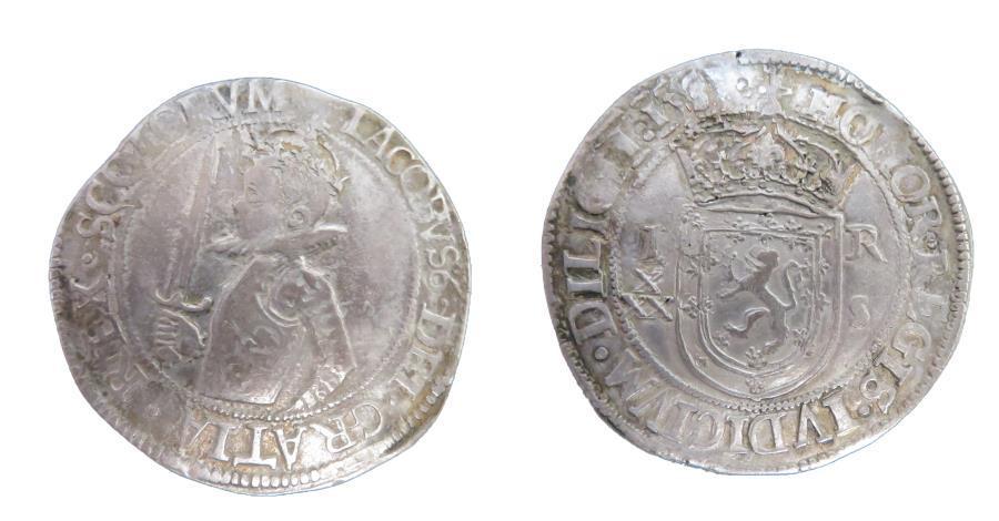 World Coins - James VI 30 Shilling Scotland 1582 L Bennett