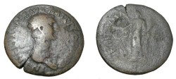 Ancient Coins - Nerva 96-98 AD AE Dupondius Fortune Avgvst S-963