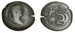 Ancient Coins - Hadrian Drachm Alexandria Egypt 117-138 Yr 17