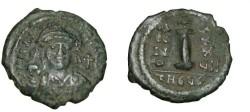 Ancient Coins - Byzantine Empire Justinian I 527-565 AD Ae Ducanummium Theopolis S-239