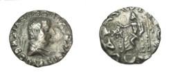 Ancient Coins - Bactria Hermaios Ca 40-1BC AR Drachm Posthumous M# 2037