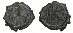 Ancient Coins - Maurice Tiberius 582-602AD AE 1/2 Follis Constantiniople