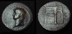 Ancient Coins - Nero, AE sestertius,