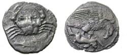 Ancient Coins - Sicily Akragas AR Hemidrachm 413-406 BC