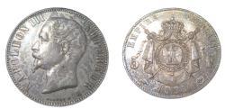 World Coins - France Napoleon III1852-1870 AR 5 Franc 1858A Paris K 787.1