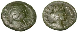 Ancient Coins - Julia Domna AE22  Paulia 170-217 AD