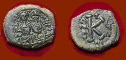 Ancient Coins - Justin II Half Follis