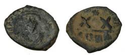 Ancient Coins - Phocas 602-610 AD  AE 1/2 Follis