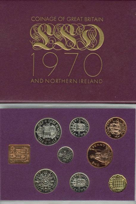 World Coins - 1970 Coinage of Great Britain & Northern Ireland Proof Set