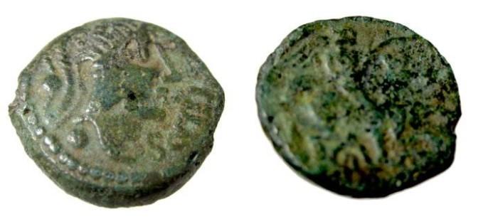 Ancient Coins - Gaul Carnutes after 200 BC AE15 2.75 gm Head R, winged horseman R LT 7081 CCCBM III 116/118