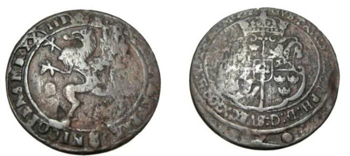 World Coins - Sweden Gustav II Adolf 1611-1632 Nykoping 1 Ore 1628  KM# 117