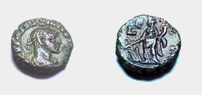 Ancient Coins - Maximianus 286-305 A.D.   Potin Tetradrachm