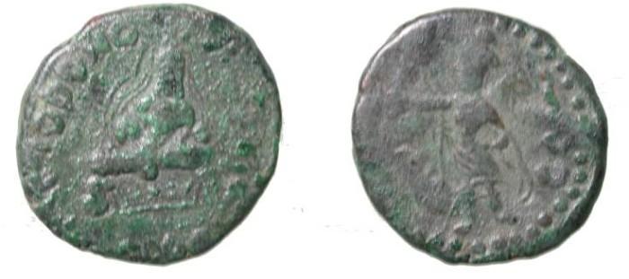 Ancient Coins - Kushans Huvishka Ca 158-195 AD