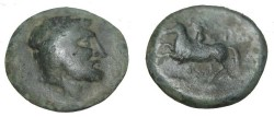 Ancient Coins - Thessaly Krannon AE 20 3rd Cent BC S-2075  Horse left